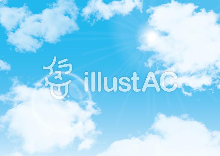 背景青空快晴白雲