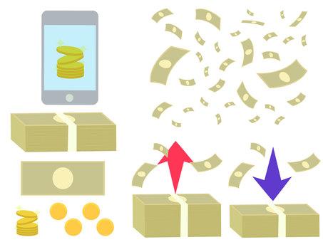 お金のセット 電子マネー キャッシュレス