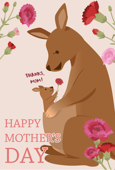 Mother's Day card kangaroo