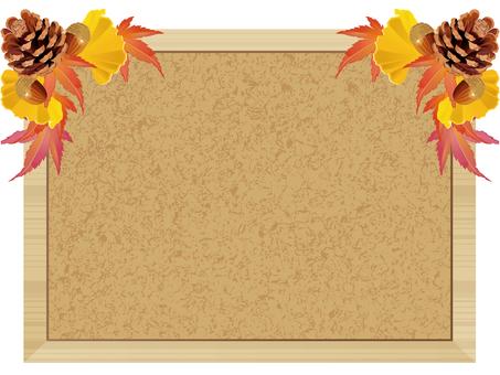 秋天的圖像框架