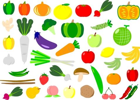 Vegetable fruit set