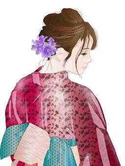 Yukata woman 06
