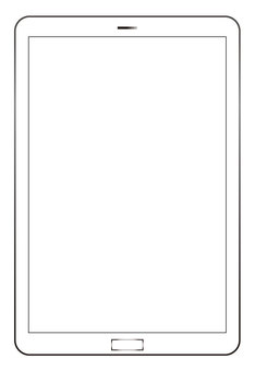 Tablet terminal with white screen