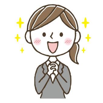 Impressed / cute female suit office worker OL