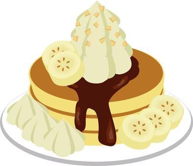 Chocolate bananapan cake