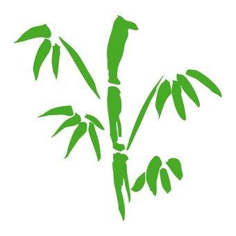 Ink painting, bamboo Sasar