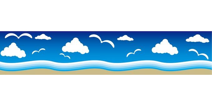 Accent decorative wave wave seagull