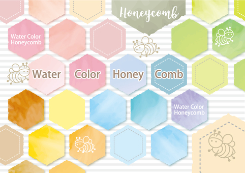 Watercolor style honeycomb