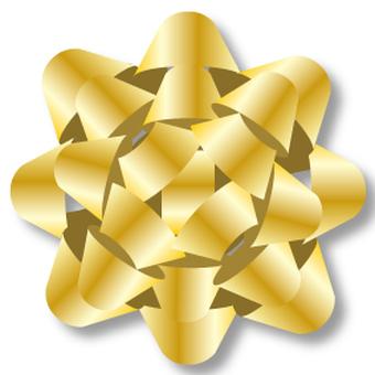 Ribbon flower gold