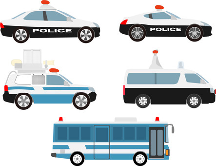 Police vehicle set right