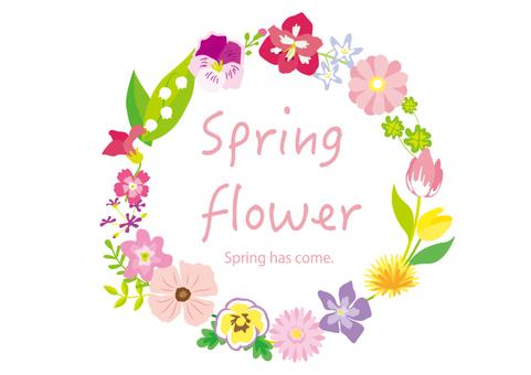 Spring flower flower circle