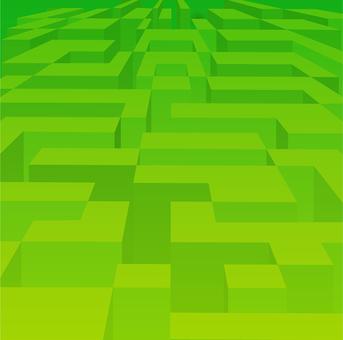 ai green three dimensional maze