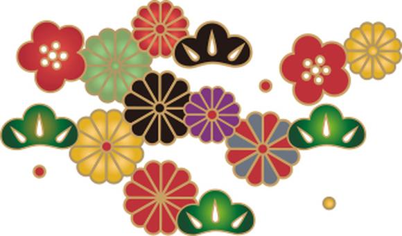 Japanese pattern of flower pattern