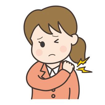 Shoulder stiffness _ female employee A