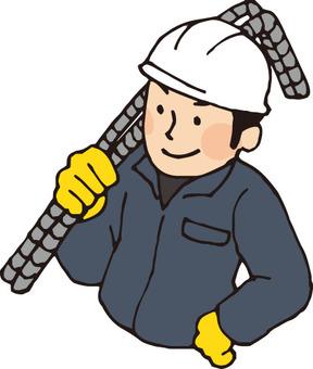 Construction (rebar work)