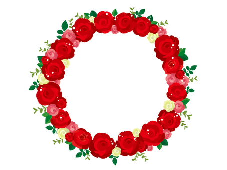 Illustration 1 of red rose wreath