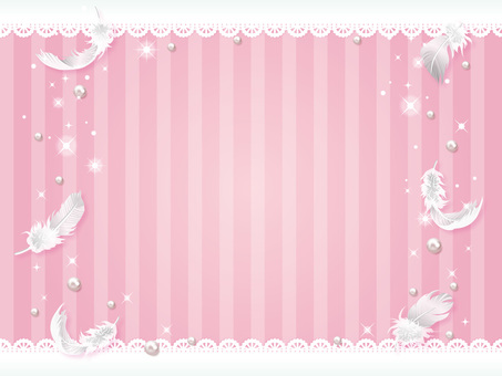 Spring color background of feathers and lace 01