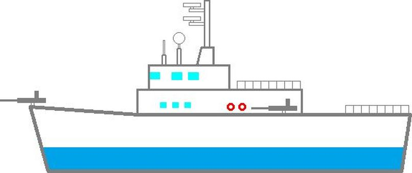Large patrol boat