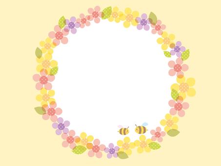 꽃과 벌의 프레임