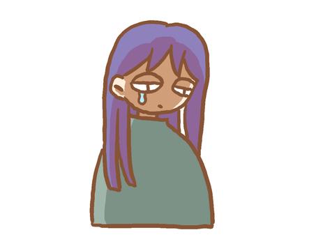 A woman tears