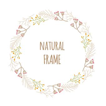 Natural frame Handwritten illustration material