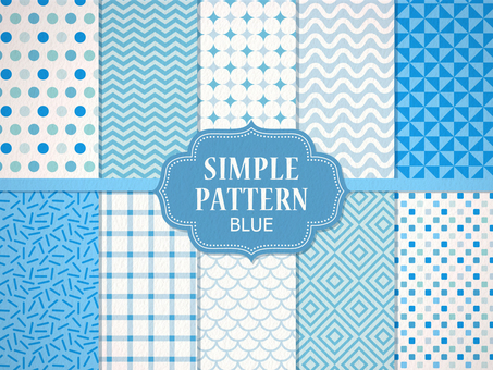 Simple pattern 【Blue】