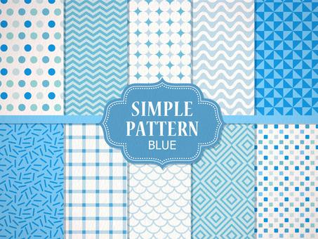 간단한 패턴 [파랑]