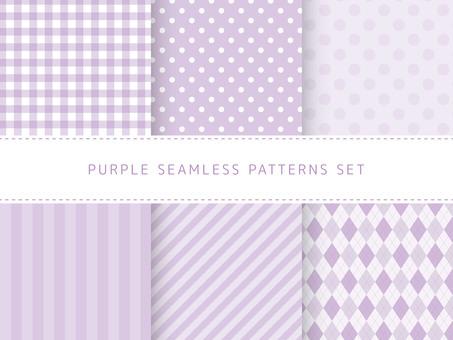 Purple seamless pattern set