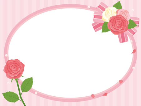 Rose and pink frame