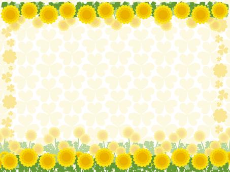 Dandelion and clover background 6