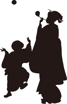 Ukiyo-e silhouette 60