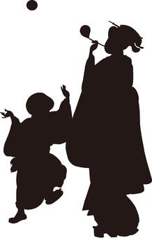 Ukiyo-e character silhouette part 60
