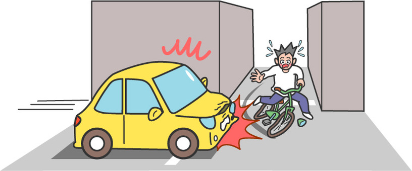 Bicycle accident / blind spot