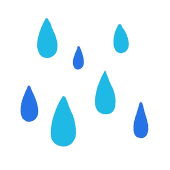 たくさんの雨のマーク(二色)