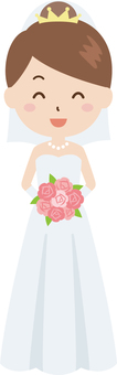 Bride | Wedding | Dress White | Bouquet