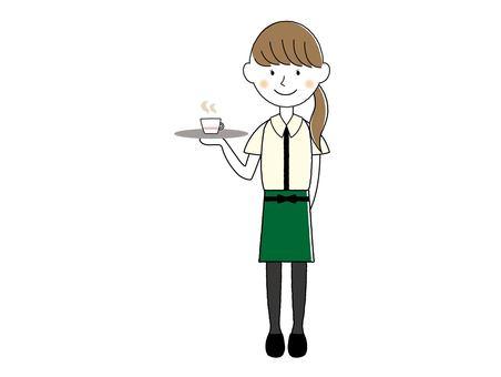 Clerk of a cafe