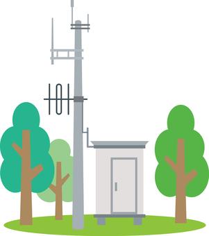 Disaster prevention radio relay station antenna