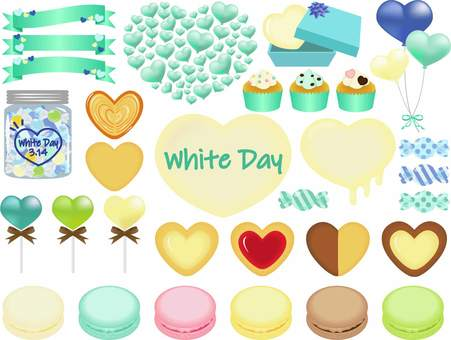 White day material set