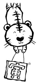 Hanging tiger