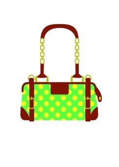 Bag (polka dot green)