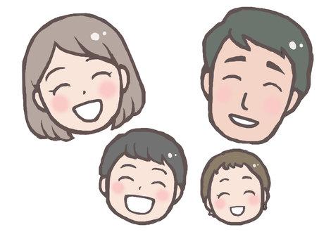 모두 웃는 얼굴