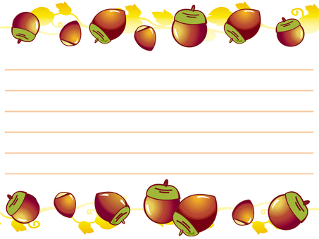 Fall note pad