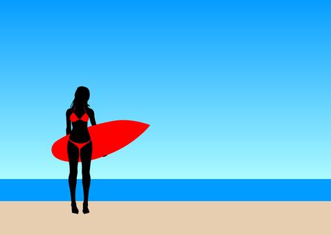 서핑 여자 8