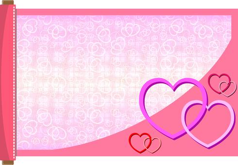 Scroll frame Heart 01