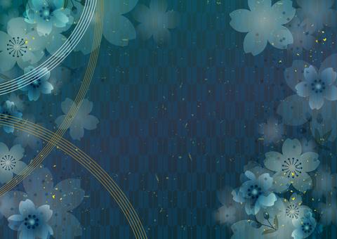 和風の背景素材 青