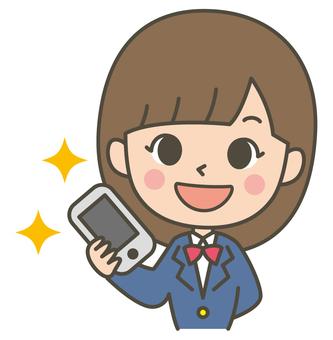 Make a phone call (female student)