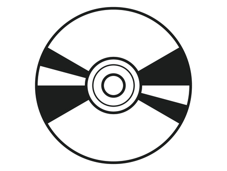 CD 아이콘 흑백
