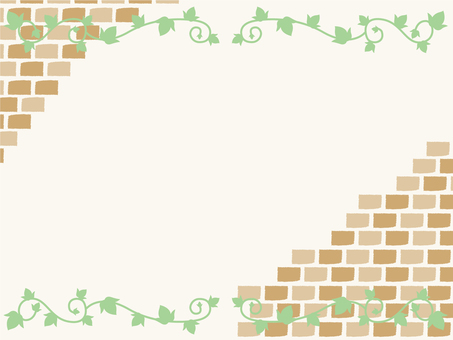 Autumn frame wall brick