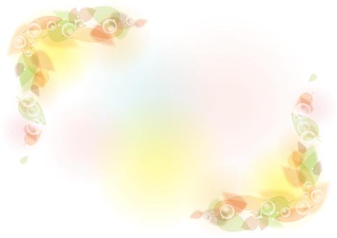 Blurred leaf frame