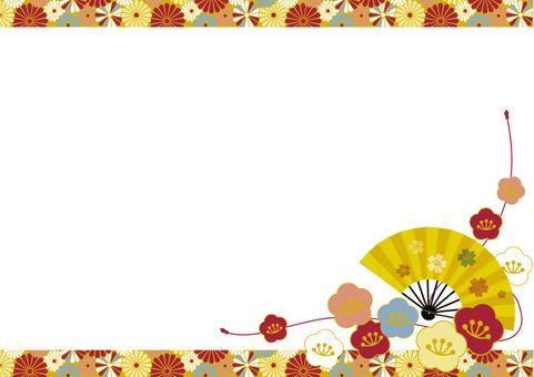 2019 Japanese pattern Japanese pattern frame 06